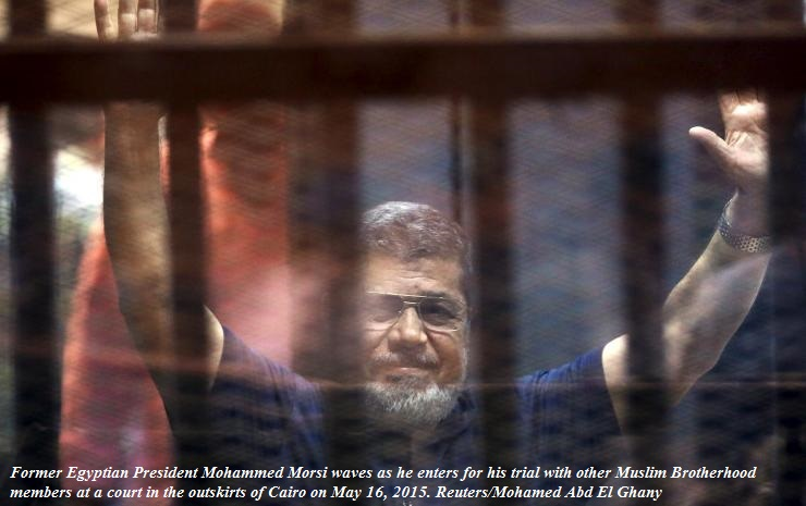 Egypt's former leader Morsi given death sentence in jailbreak case