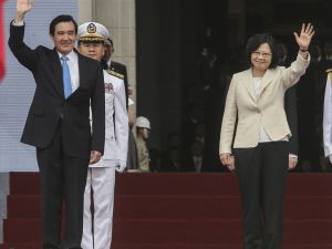 UPDATE 3 - New Taiwan president sworn in amid tension with China
