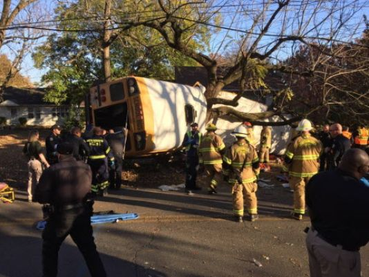 Driver charged in US elementary school bus tragedy