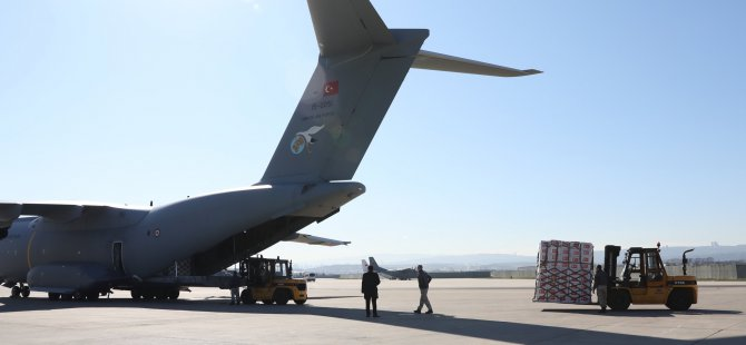 Turkish military plane with COVID-19 aid lands in US