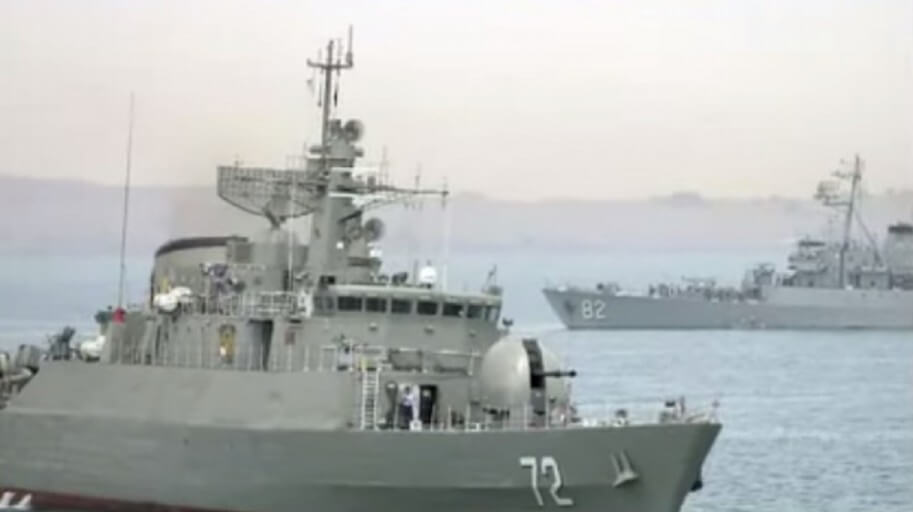 Iran Moves Warships Into Key Strategic Position