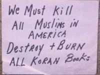 """We Must Kill All Muslims in America."""